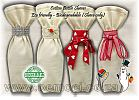 Cotton Bottle Wine Bags Gift &  Favour Bags